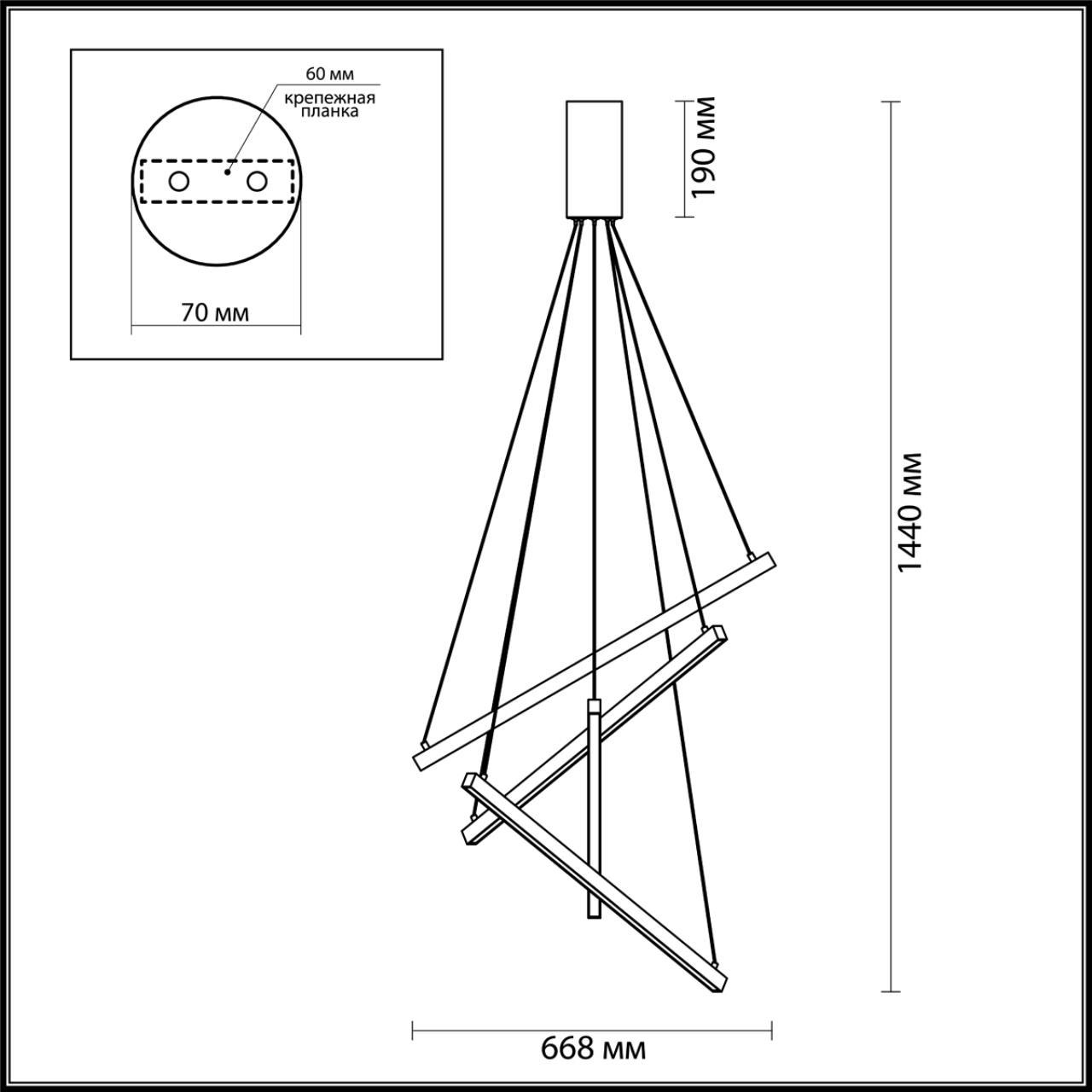 Люстра подвесная ODEON LIGHT 3860/48B