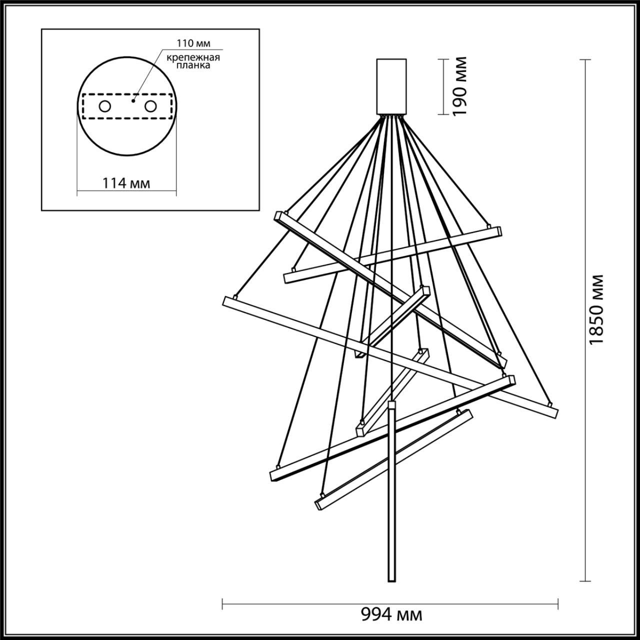 Люстра подвесная ODEON LIGHT 3860/96B