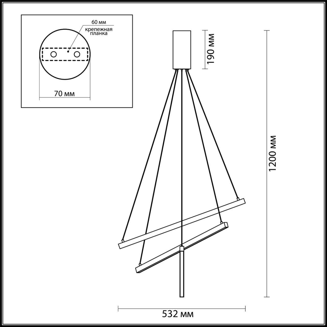 Люстра подвесная ODEON LIGHT 3860/39B