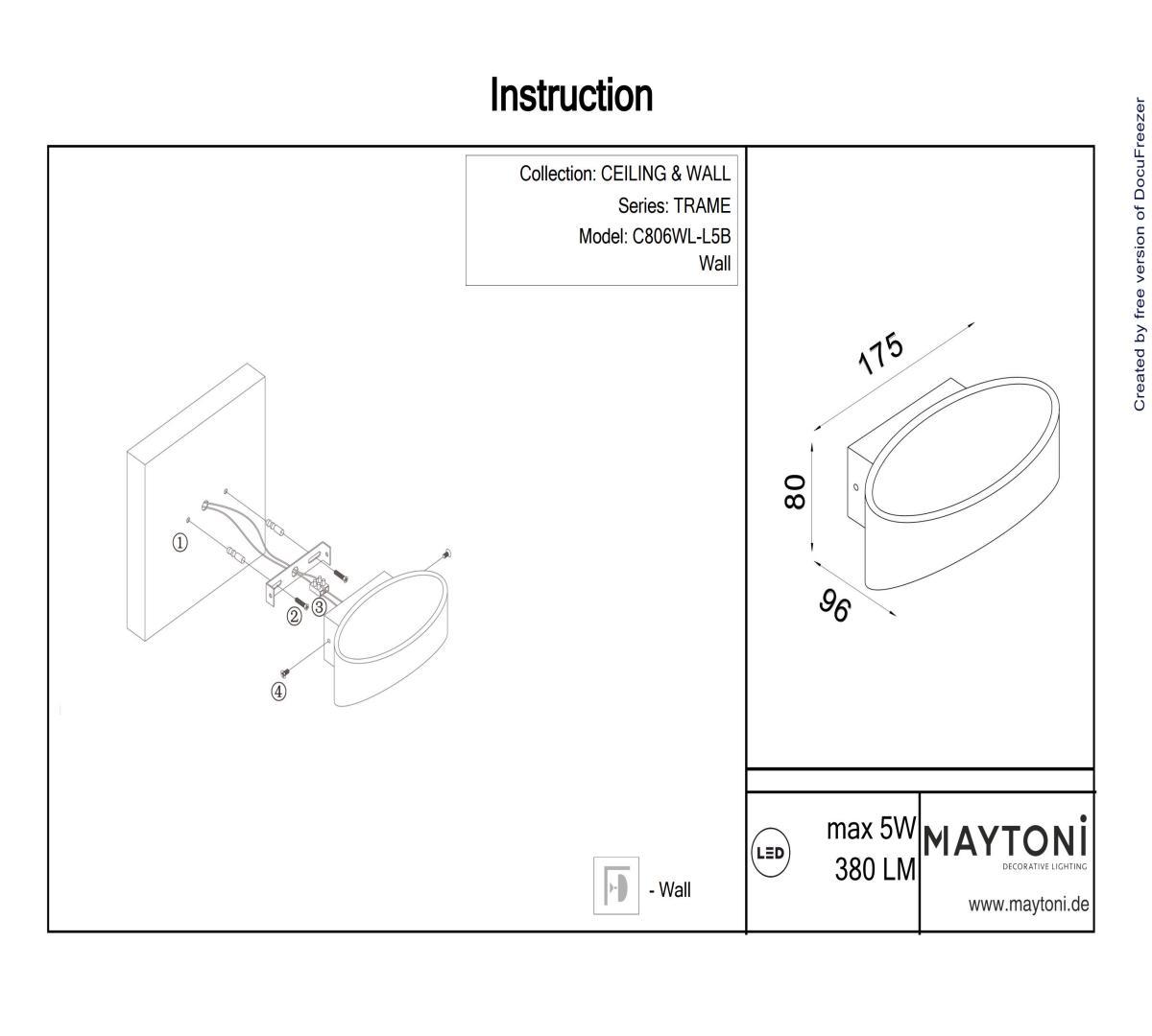 Светильник светодиодный MAYTONI C806WL-L5B