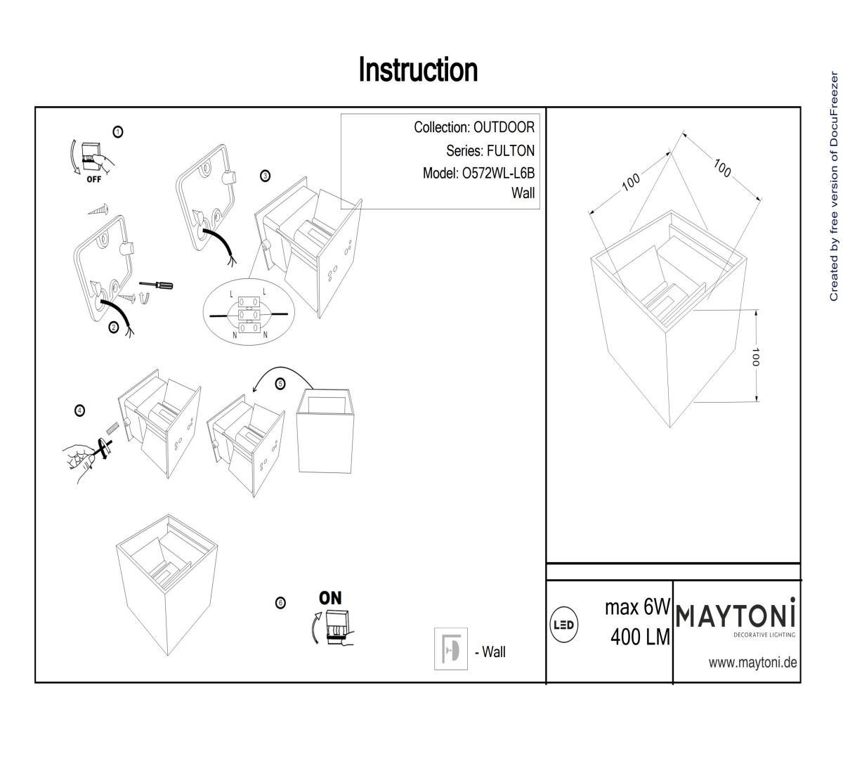 Бра настенное MAYTONI O572WL-L6B
