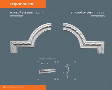 Угловой элемент Европласт 1.52.314
