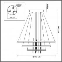 Люстра подвесная ODEON LIGHT 3901/99L