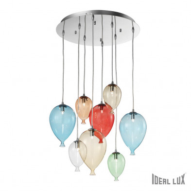 Люстра каскад IDEAL LUX CLOWN SP8 COLOR-00944
