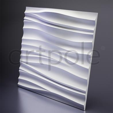 Гипсовая панель Artpole - 3D-панели D-0002-3WH Silk 2 LED (White)