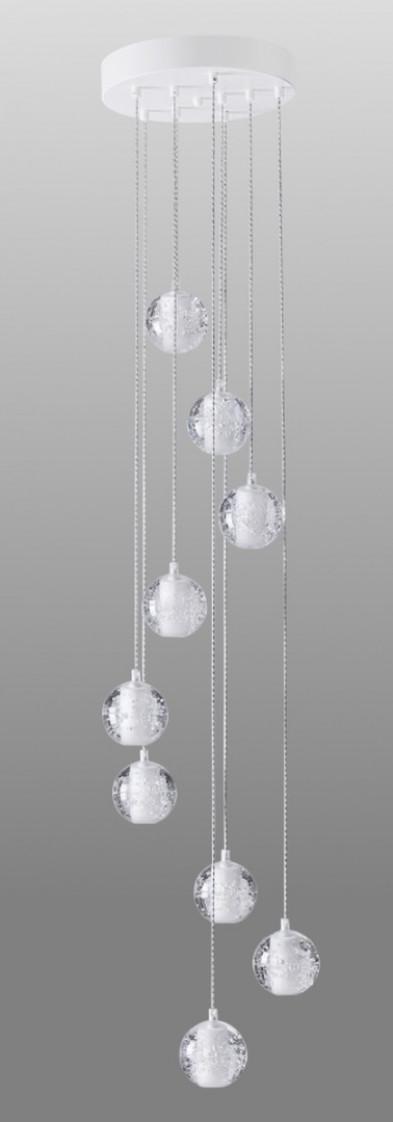 Люстра каскад Crystal Lux GASPAR SP9 D300 WHITE