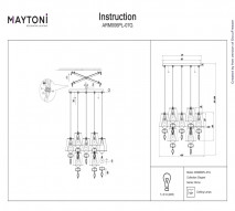 Люстра каскад MAYTONI ARM006PL-07G