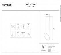 Светильник MAYTONI C025CL-01B