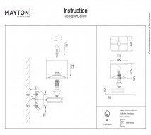 Бра настенное MAYTONI MOD020WL-01CH