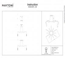 Люстра каскад MAYTONI MOD035PL-12B