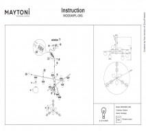 Люстра подвесная MAYTONI MOD048PL-09G