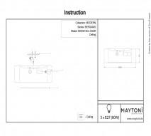 Светильник MAYTONI MOD613CL-04GR