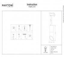 Подвес MAYTONI P026PL-01W