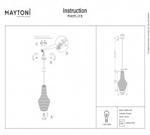 Подвес MAYTONI P045PL-01B