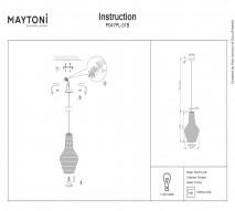 Подвес MAYTONI P047PL-01B