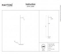 Торшер MAYTONI Z010FL-L8B3K