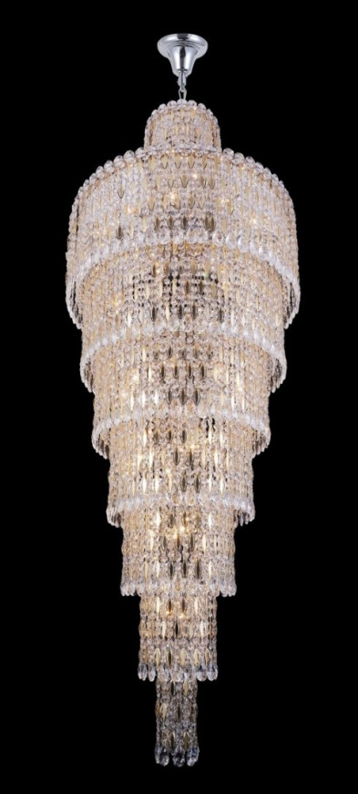 Люстра каскад Crystal Lux LIRICA SP40 D700 CHROME/GOLD-TRANSPARENT