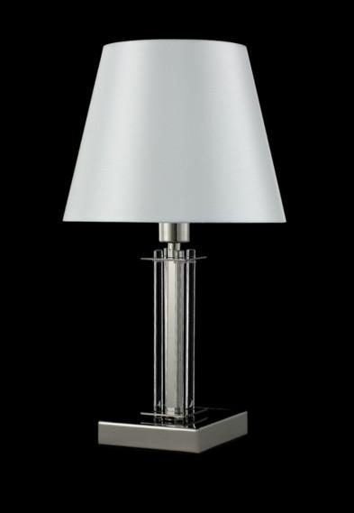 Настольная лампа Crystal Lux NICOLAS LG1 NICKEL/WHITE