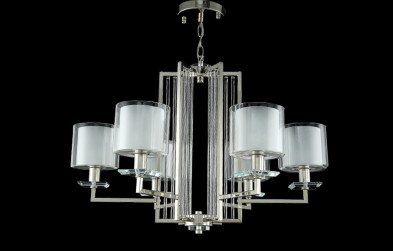 Люстра подвесная Crystal Lux NICOLAS SP-PL6 NICKEL/WHITE