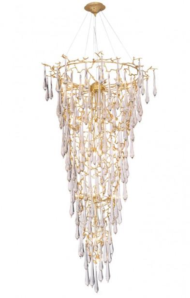 Люстра подвесная Crystal Lux REINA SP34 D1200 GOLD PEARL